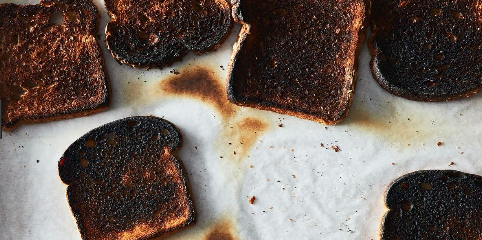 Does a burnt piece of toast have the same number of calories as a regular piece of toast?