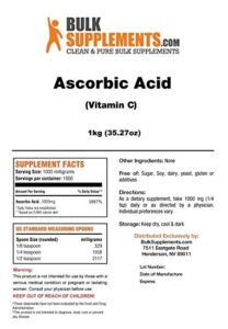 Bulk Supplements Review Ascorbic Acid
