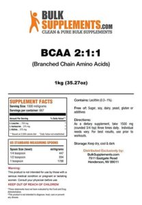 Bulk supplements review BCAA