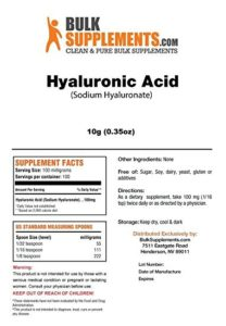 Bulk Supplement Reviews of Hyaluronic Acid