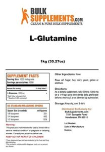 Bulk supplements review L-Glutamine