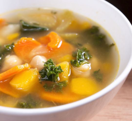 Homemade vegetable soup for weight loss